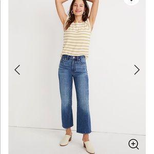 Madewell Slim Wide Leg Crop